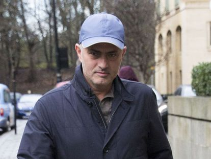 José Mourinho in London.