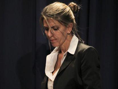 Nisman's ex-wife, Judge Sandra Arroyo Salgado, during a news conference on Thursday.