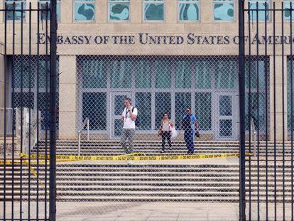 The US embassy in Havana in 2017.