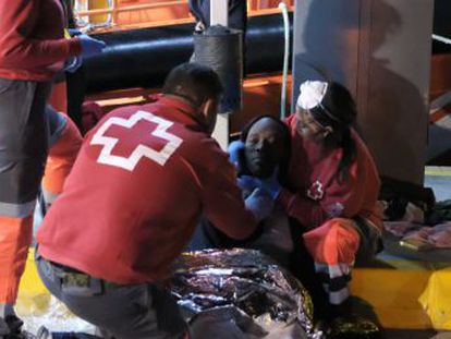 Rescue services took 55 survivors to the Spanish exclave city, where the temporary holding center is already over capacity