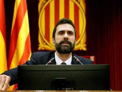 Catalan parliamentary speaker Roger Torrent.