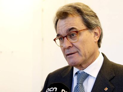 Artur Mas reacting to the court decision in the Palau case.