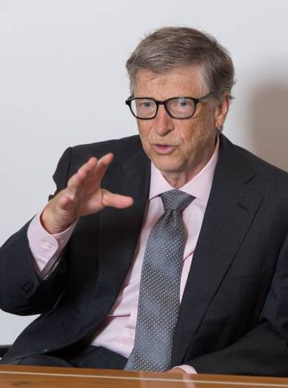 Bill Gates during the interview.
