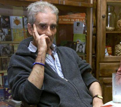 Leopoldo María Panero in Las Palmas de Gran Canaria, in 2001.