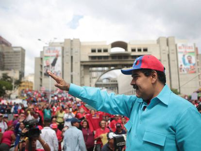 Venezuela's President Nicolás Maduro announces the state of emergency on Friday.