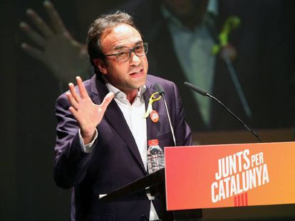 Former Catalan minister and Junts per Catalunya candidate Josep Rull on Tuesday.
