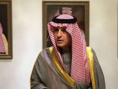 Saudi Minister of State for Foreign Affairs Adel al-Jubeir, in Madrid.