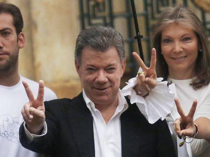 Colombian President Juan Manuel Santos after voting in the recent plebiscite.