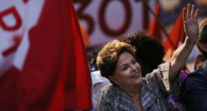 President Dilma Rousseff at a campaign event in September.