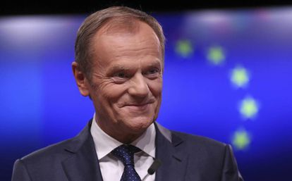 European Council President Donald Tusk in Brussels on Sunday.