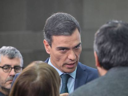 Pedro Sánchez stating his position on Venezuela.