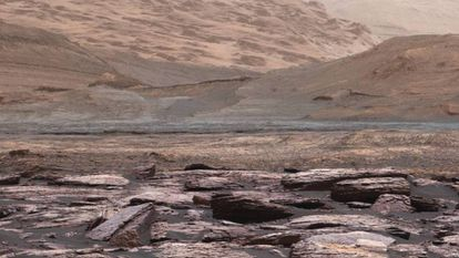 Image taken by the Curiosity rover on Mars.