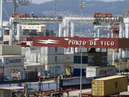 Galician port of Vigo.
