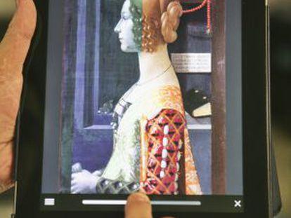 The Thyssen's app devoted to Ghirlandaio's 'Portrait of Giovanna Tornabuoni.'