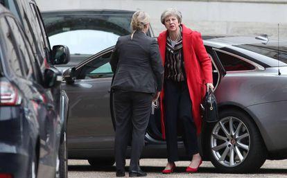 British PM Theresa May on Monday.