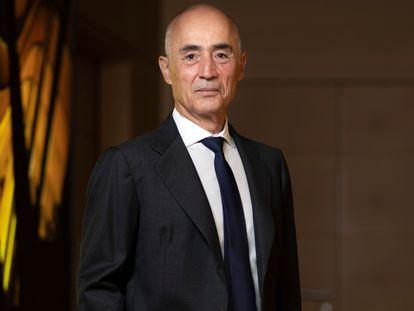Rafael del Pino, chairman of Ferrovial, at his company's headquarters in Madrid.