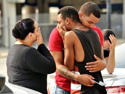 Friends and relatives of victims of the Orlando massacre.