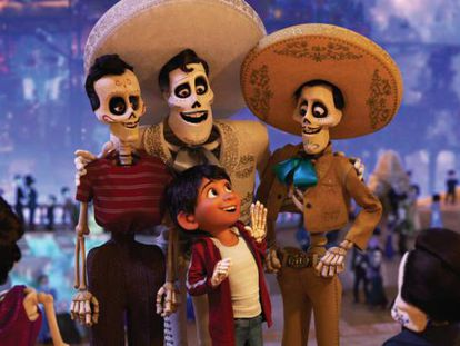 Miguel, the protagonist of Pixar's hit film, visits the world of the dead.