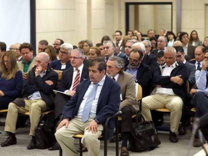 Defendants during Spain's Gürtel corruption trial.