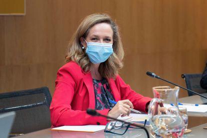 Economy Minister Nadia Calviño.