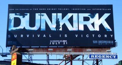 The billboard for Christopher Nolan's war movie 'Dunkirk.'