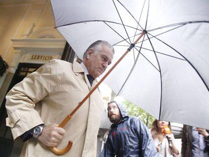 Former PP treasurer Luis Barcenas in Madrid in May 2018.