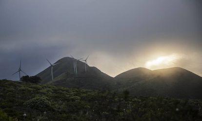 A wind farm in El Hierro.