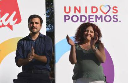 Podemos has teamed up with United Left, whose leader Alberto Garzón is pictured above, to run together as Unidos Podemos (United We Can).
