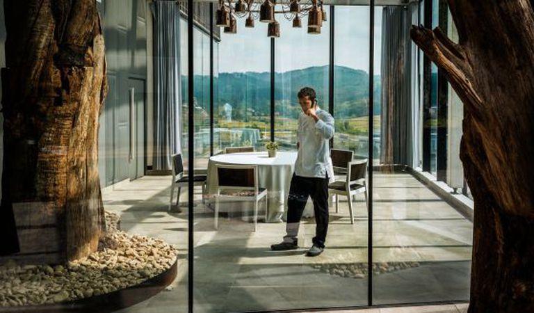 Eneko Atxa, 36, owns Azurmendi, the first restaurant in Bizkaia with three Michelin stars.