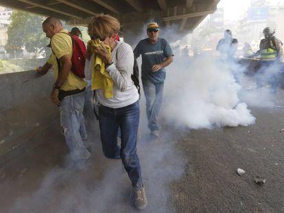 The disturbances on Wednesday in Caracas.