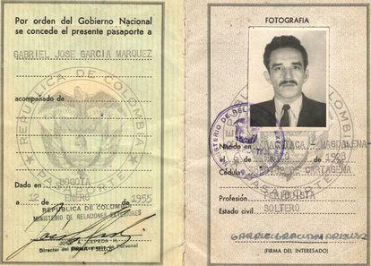 Gabriel García Márquez's passport in 1955.