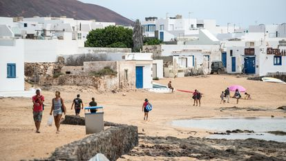 Caleta de Sebo in the Canary Island of La Graciosa last week.