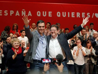 (l-r) PM Pedro Sánchez and the regional premier of Valencia Ximo Puig.