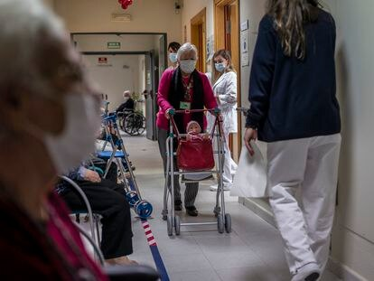 The vaccination drive in a Madrid nursing home in January.