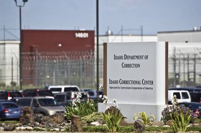 Entrance to a private Idaho prison