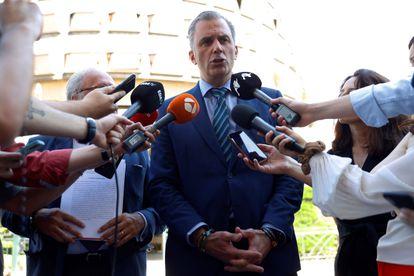 Vox general secretary Javier Ortega Smith.