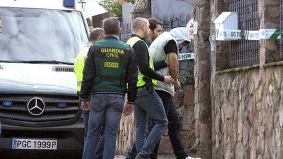 The Guadalajara quadruple killer, under arrest.