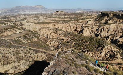 An aerial view of the Quaternary Geopark in Granada.