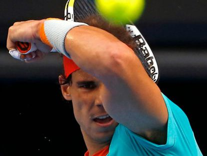 Nadal during a training session in Australia.