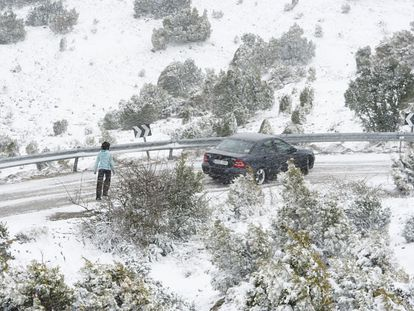 The Tinença de Benifassà highway in northern Castellón, the area where the hikers went missing.