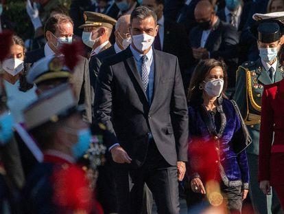 Spanish PM Pedro Sánchez at the National Day celebrations.