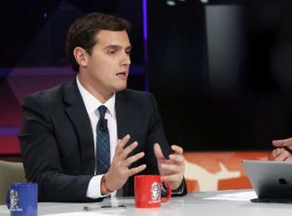Ciudadanos leader Albert Rivera is also taking votes away from the Socialists.