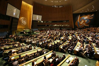 The 2007 UN General Assembly meeting.