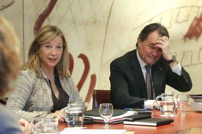 Regional premier Artur Mas and his deputy, Joana Ortega.