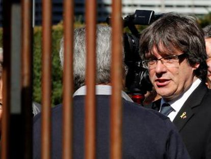 The politician, who fled Spain to avoid arrest, is stepping up his public appearances ahead of the first anniversary of the independence referendum