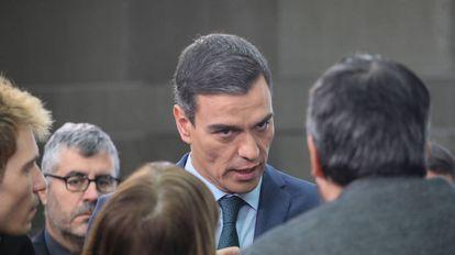 Pedro Sánchez stating his position on Venezuela.