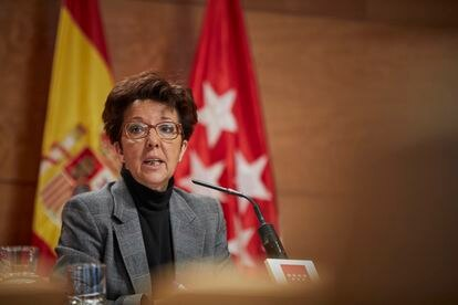 Elena Andradas, the director general of Madrid's Public Health agency on Friday.