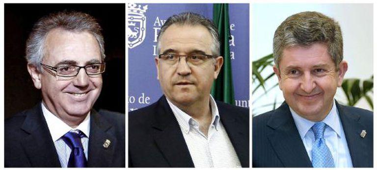 Left to right, Miguel Sanz, Enrique Maya and Álvaro Miranda.