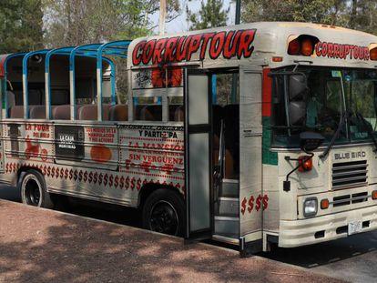 The Corruptour bus.
