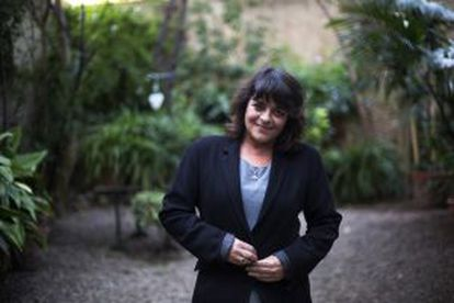 Writer Giovanna Valls at home in Barcelona.